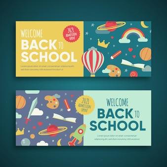 Back to school banner stil