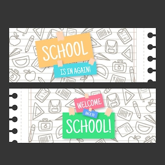 Back to school banner vorlage thema