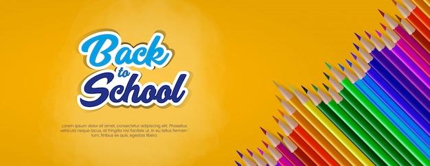 Back to school banner vorlage