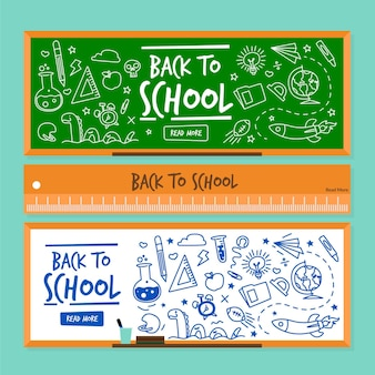 Back to school banner vorlage