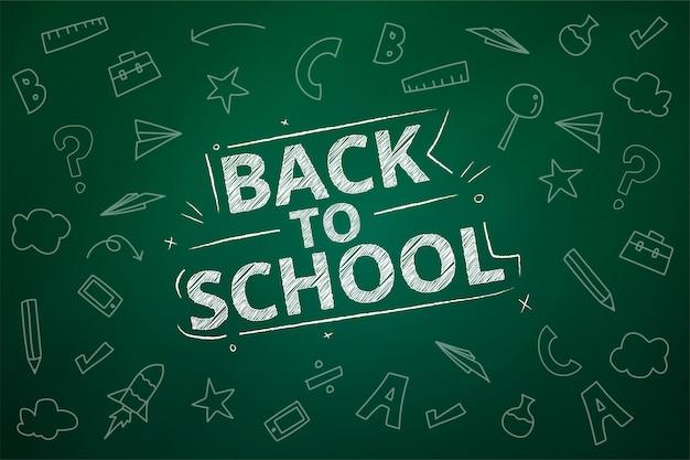 Back to school draw design auf backboard.