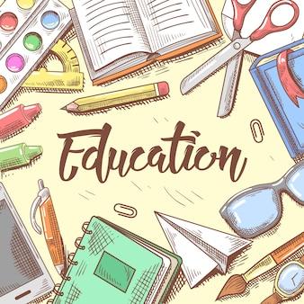Back to school education illustration