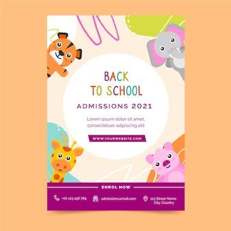 Back to school flyer vorlage