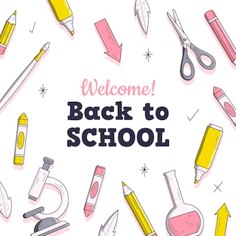 Back to school hintergrund design