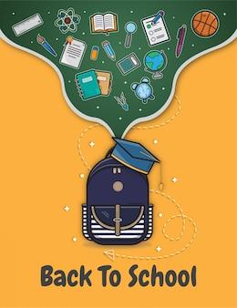Back to school hintergrund illustration