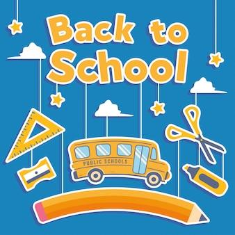 Back to school hintergrund spaß social media