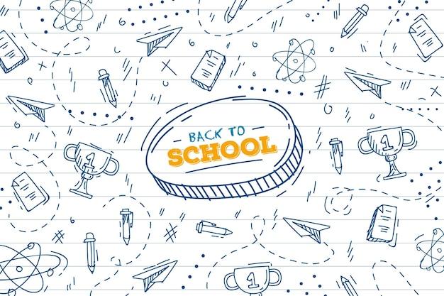 Back to school hintergrund zeichnen thema