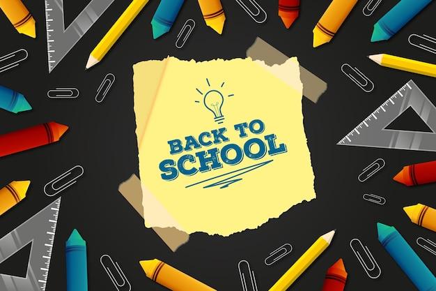 Back to school hintergrundkonzept