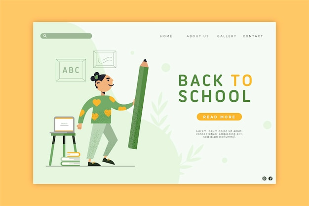 Back to school homepage design
