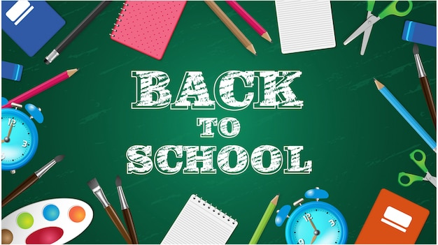 Back to school illustration hintergrund