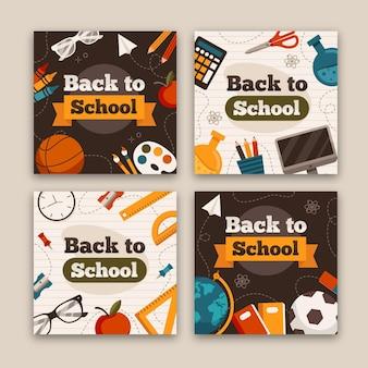 Back to school instagram beiträge vorlage