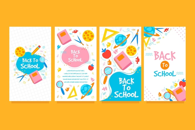 Back to school instagram geschichten sammlung