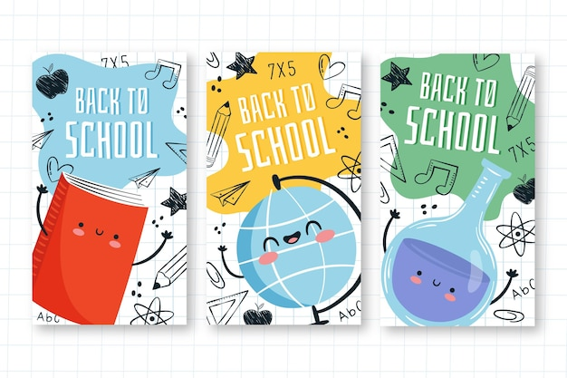Back to school instagram geschichten zeichnen