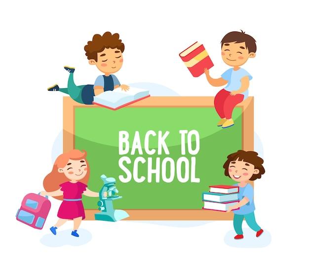 Back to school-konzept isoliert auf weiß