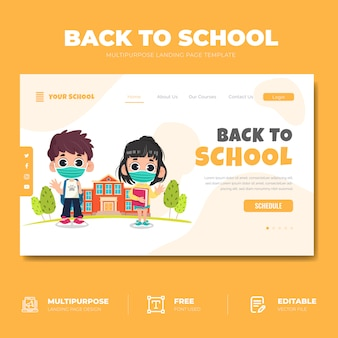 Back to school landing page konzept