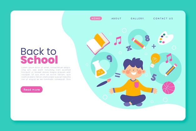 Back to school landing page thema