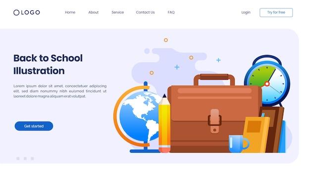 Back to school landing page website