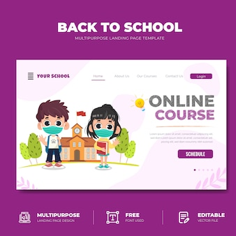 Back to school online-kurs landing page