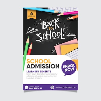 Back to school poster vorlage design