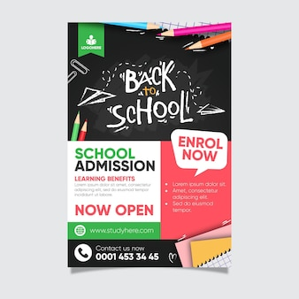 Back to school poster vorlage stil