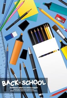 Back to school poster vorlage