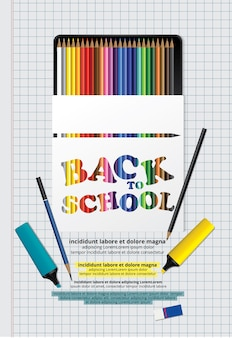 Back to school poster vorlage