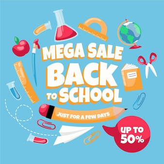 Back to school sales handgezeichnet