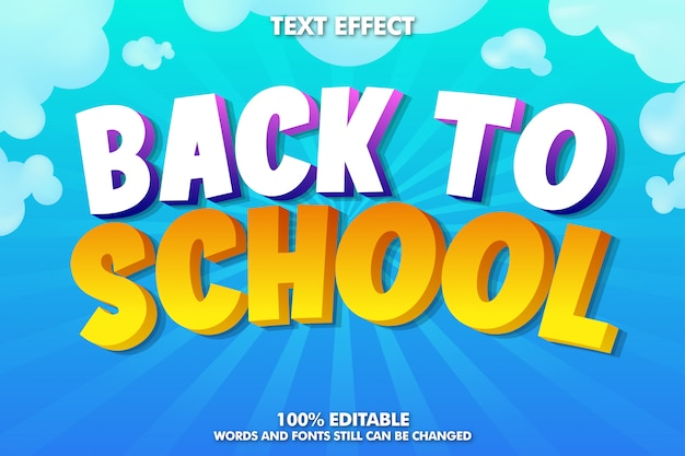Back to school texteffekt