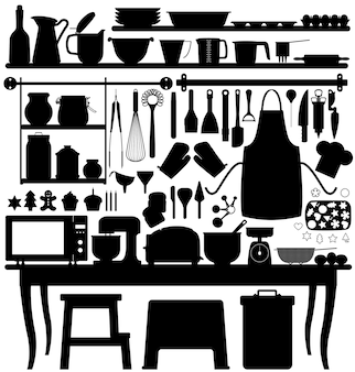 Backgebäck küchenwerkzeug.
