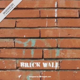 Backsteinmauer mit flecken