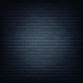 Backsteinmauer mit lichtquelle Premium Vektoren