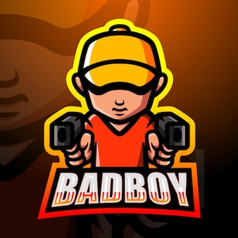 Bad boy maskottchen esport illustration