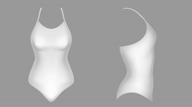Badebekleidung, weiße badekleidung auf der vorderseite