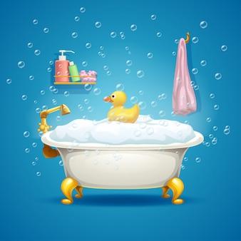 Badewanne mit blasen