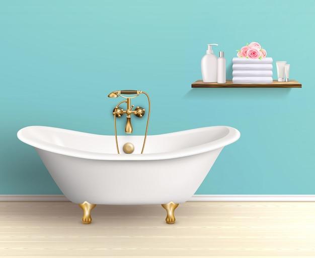 Badezimmer-innenraum farbiges plakat