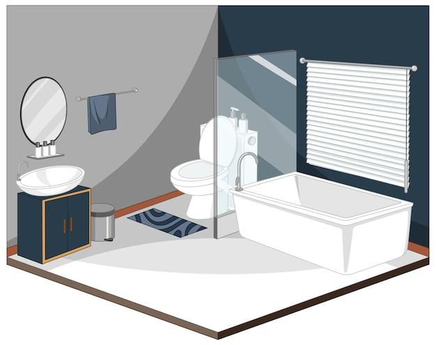 Badezimmerausstattung mit möbeln
