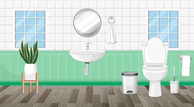 Badezimmereinrichtung mit möbeln