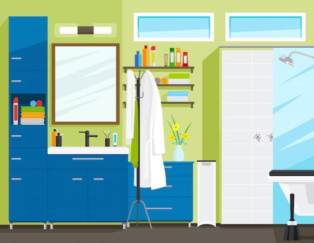 Badezimmerinnenraum oder innenraum des toilettenraums