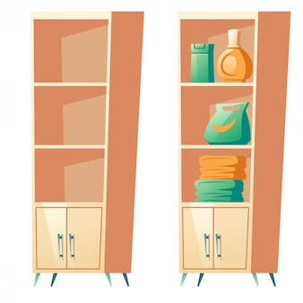 Badezimmerregal mit regalen für handtücher, clipart
