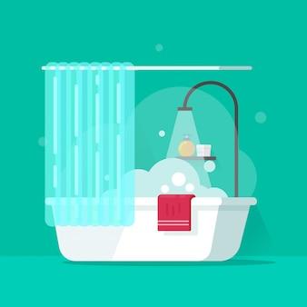 Badezimmervektorillustration in der flachen karikatur