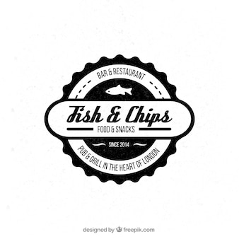 Badge of fish and chips restaurant