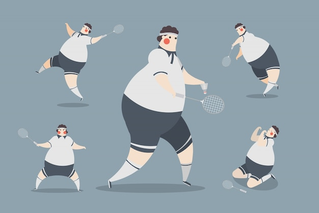 Badminton männer charakter design