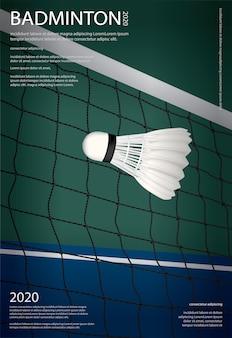 Badminton meisterschaft poster illustration