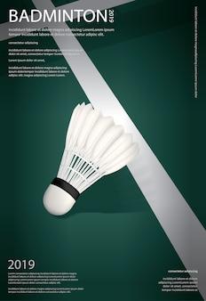 Badminton-meisterschafts-plakatillustration