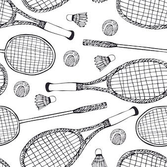 Badminton und tennis