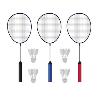 Badminton-vektor-sammlung design