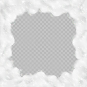 Badschaumfeld getrennt auf transparentem