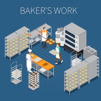 Bäcker fabrik isometrisch