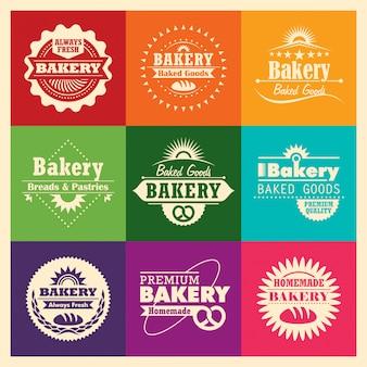 Bäckerei-aufkleber