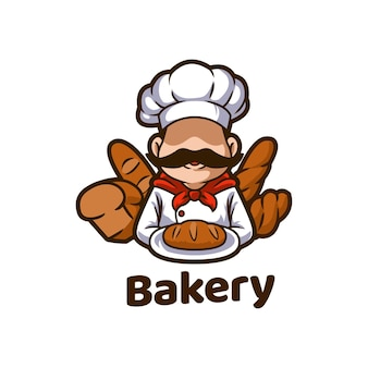 Bäckerei bakeshop lebensmittelbrot maskottchen